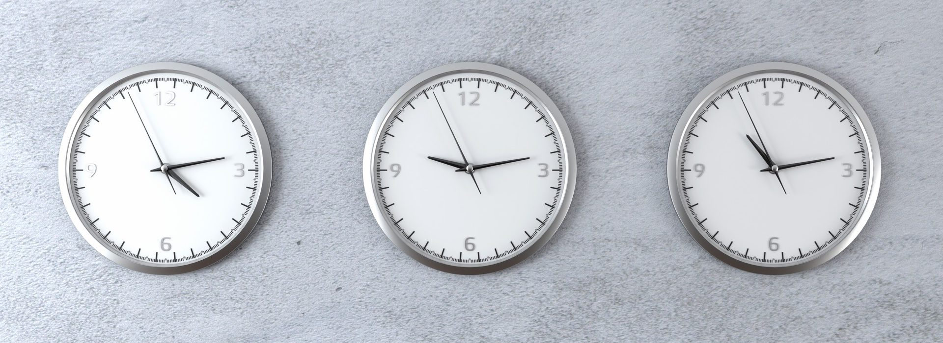 diferent time zones 3d render